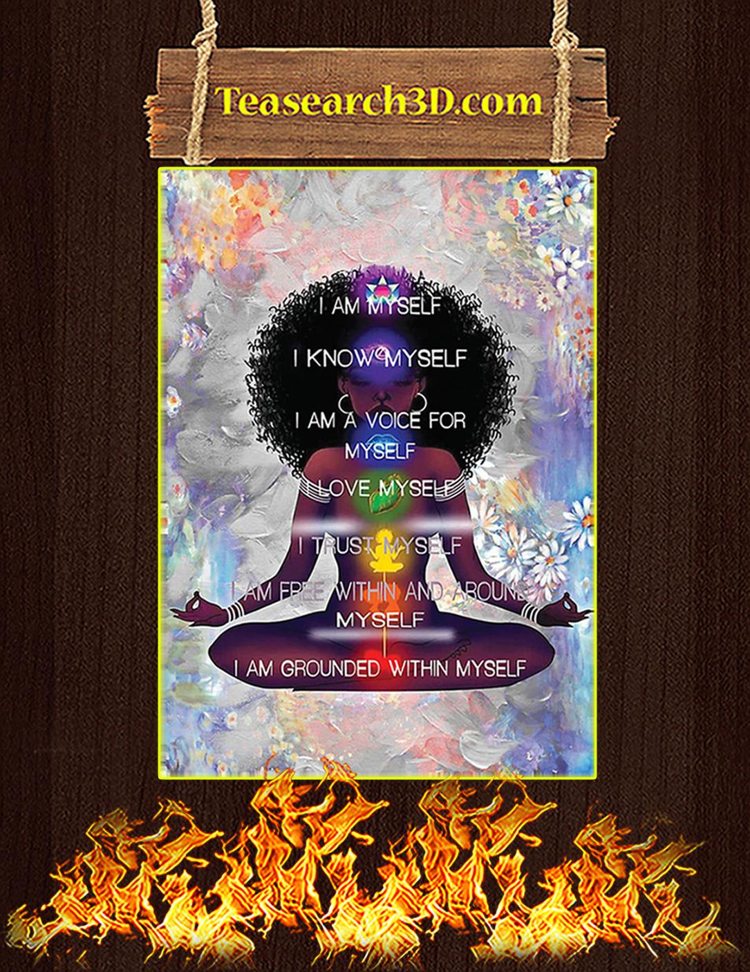 Black Girl Meditation I'm Myself Poster A3