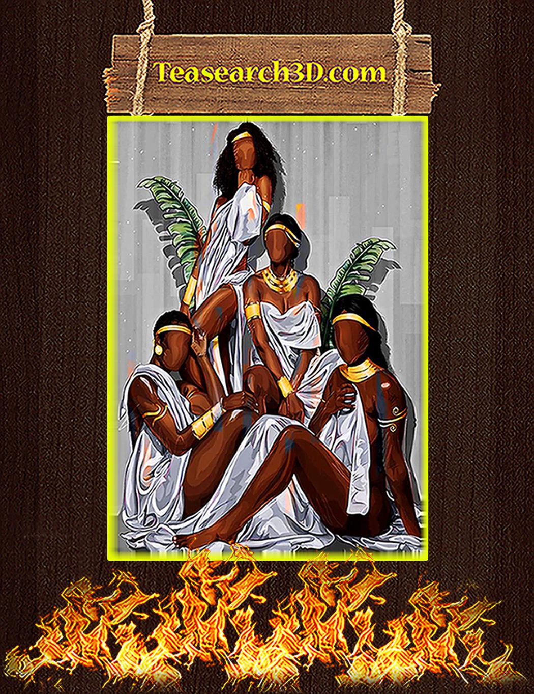 Black girl vertical poster A1