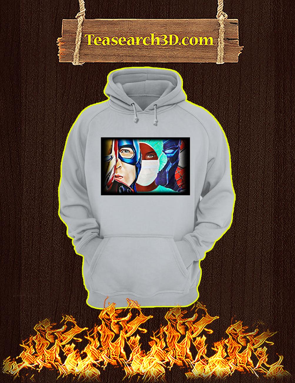 Black nurse superheroes hoodie