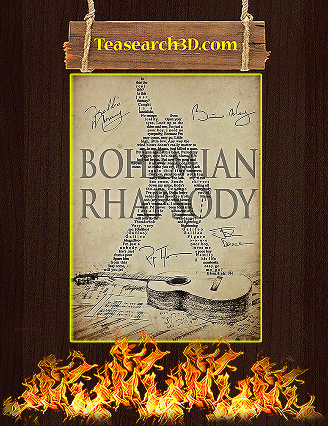 Bohemian Rhapsody Queen Poster A1