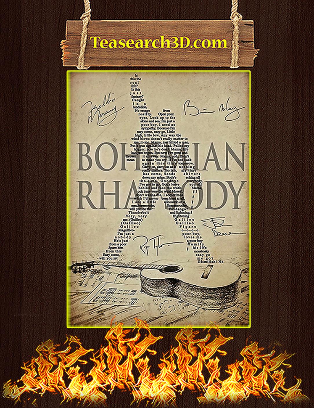 Bohemian Rhapsody Queen Poster A2