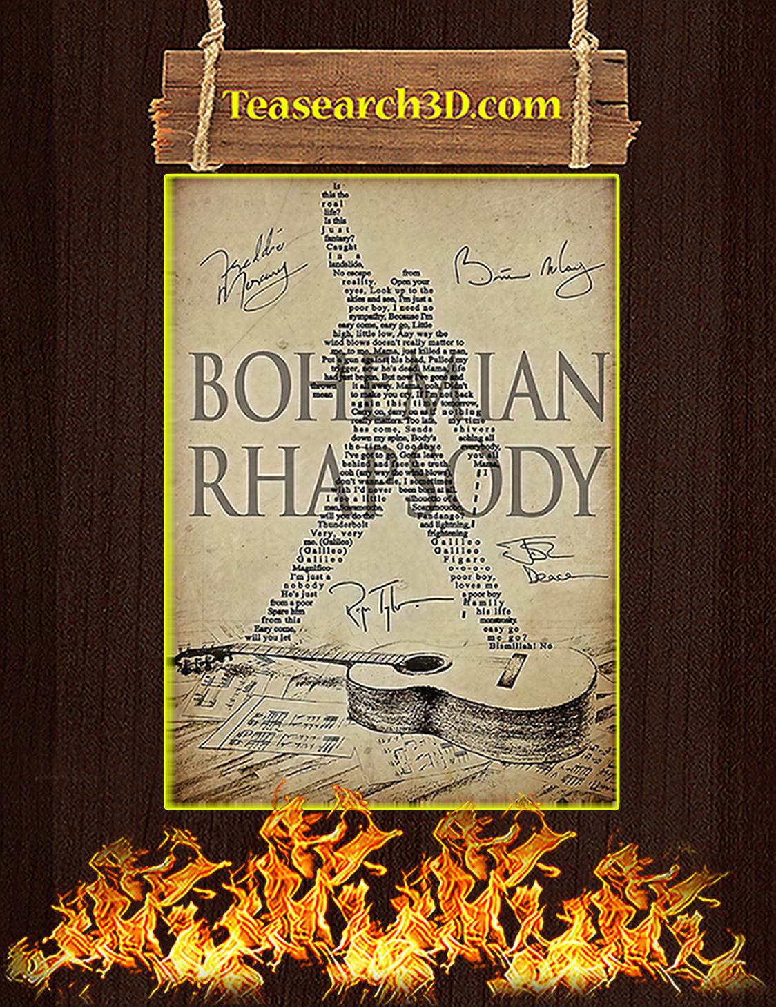 Bohemian Rhapsody Queen Poster A3