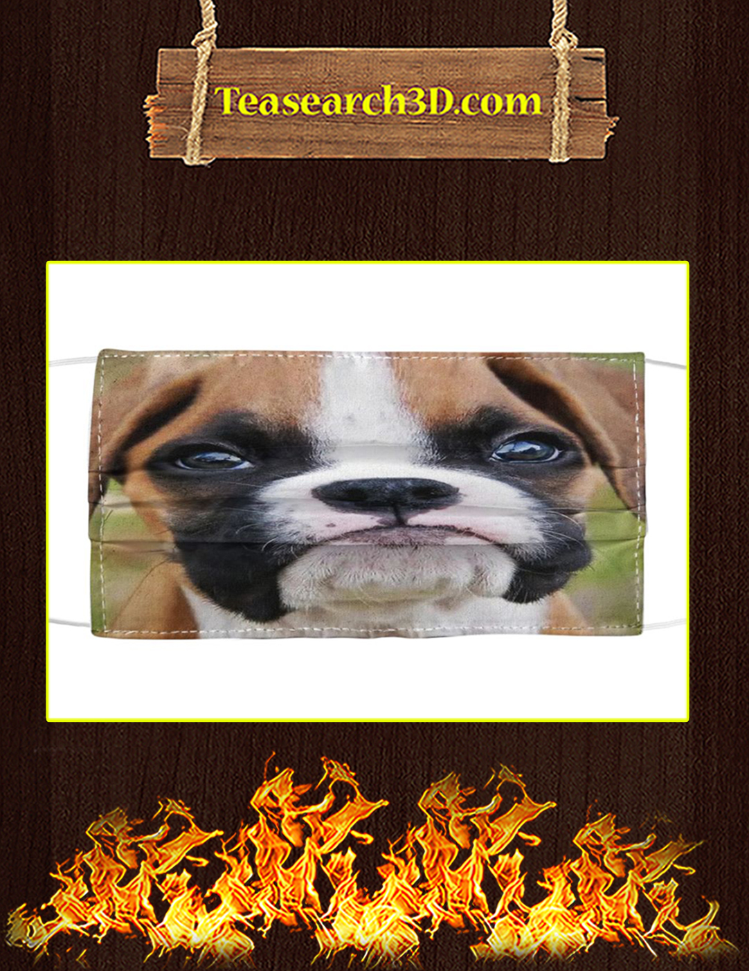 Boxer dog cloth face mask pack 5