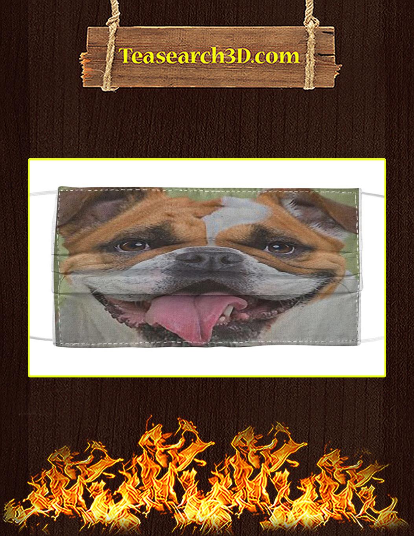 Bulldog Face Mask
