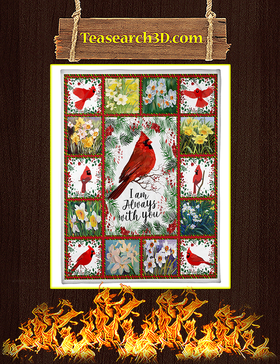 Cardinal I'm Always With You Blanket x-large