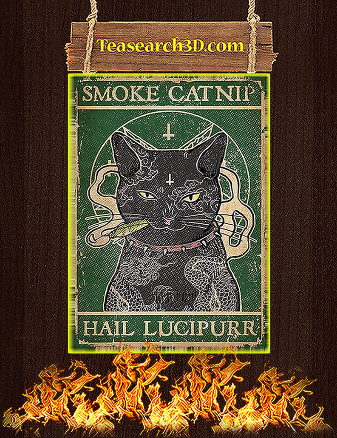 Cat Smoke Catnip Hail Lucipurr Poster A3