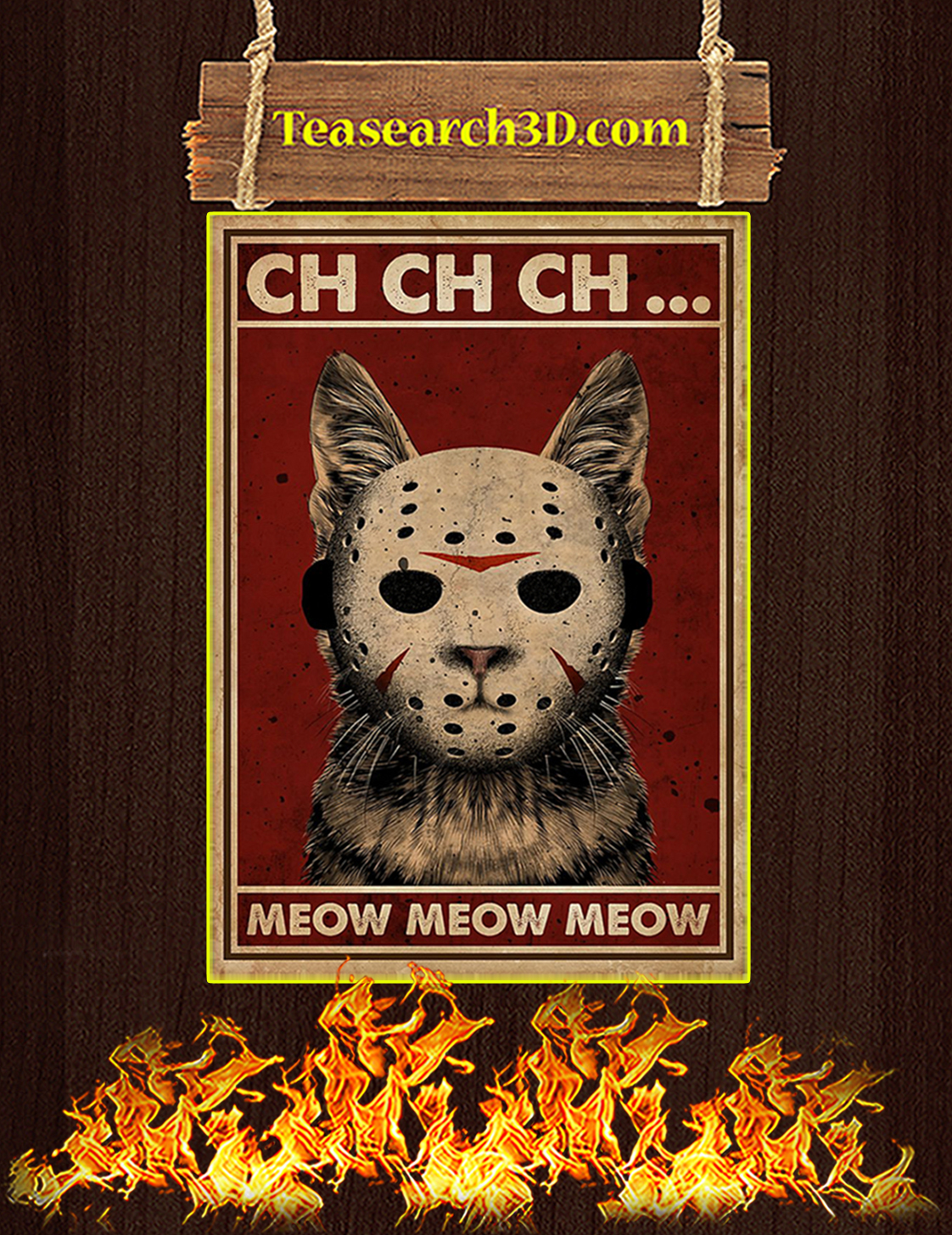 Ch ch ch meow meow meow poster A3