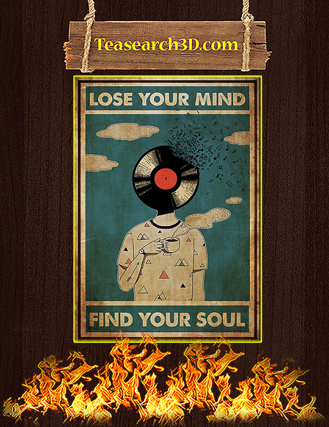 DJ lose your mind find your soul poster A3