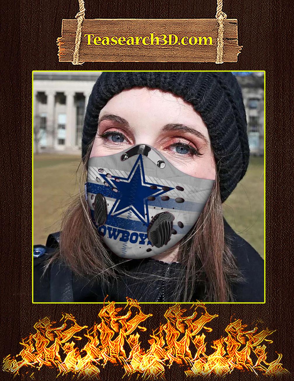 Dallas Cowboys Filter Activated Carbon Pm 2.5 Fm Face Mask Pic 1