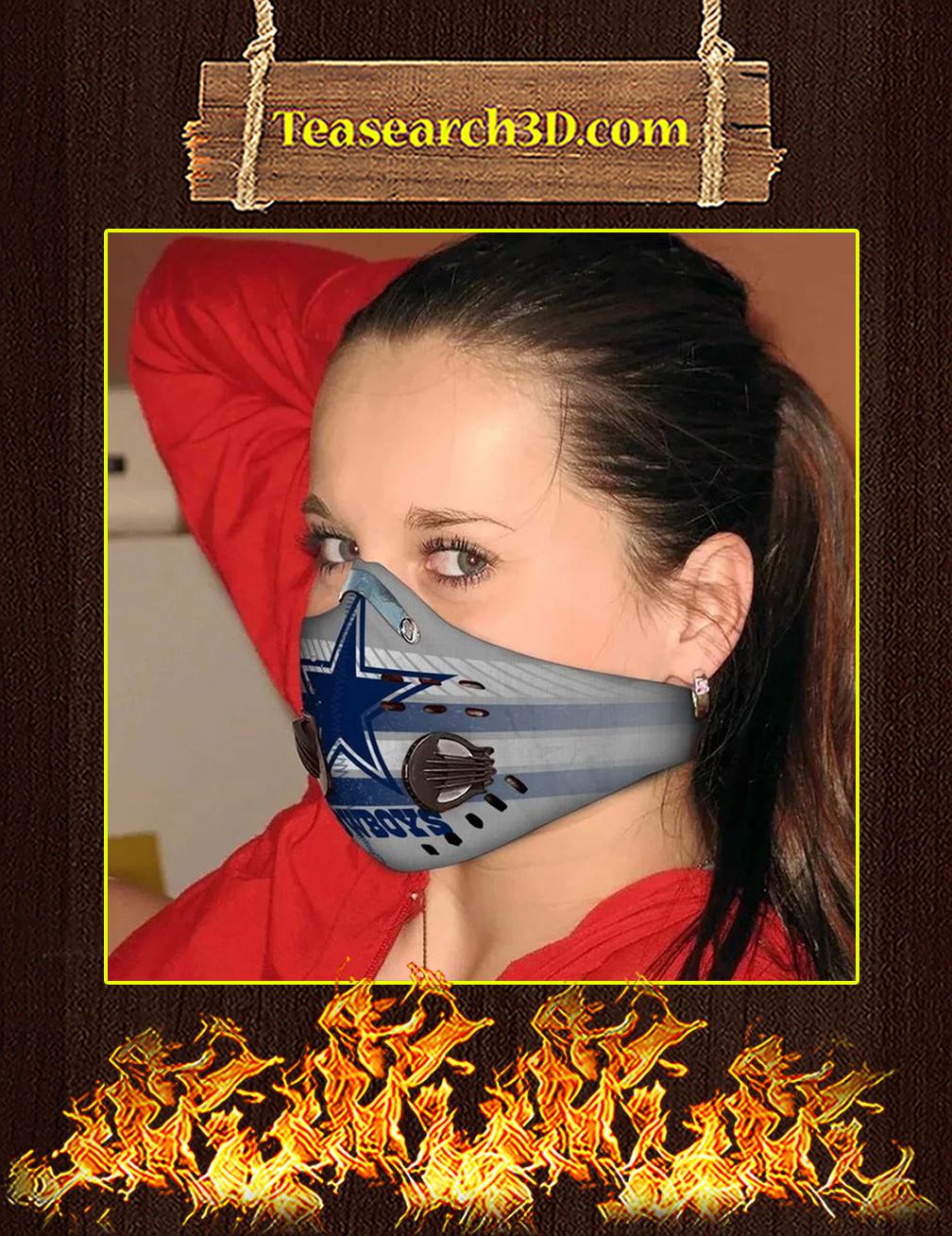 Dallas Cowboys Filter Activated Carbon Pm 2.5 Fm Face Mask Pic 2
