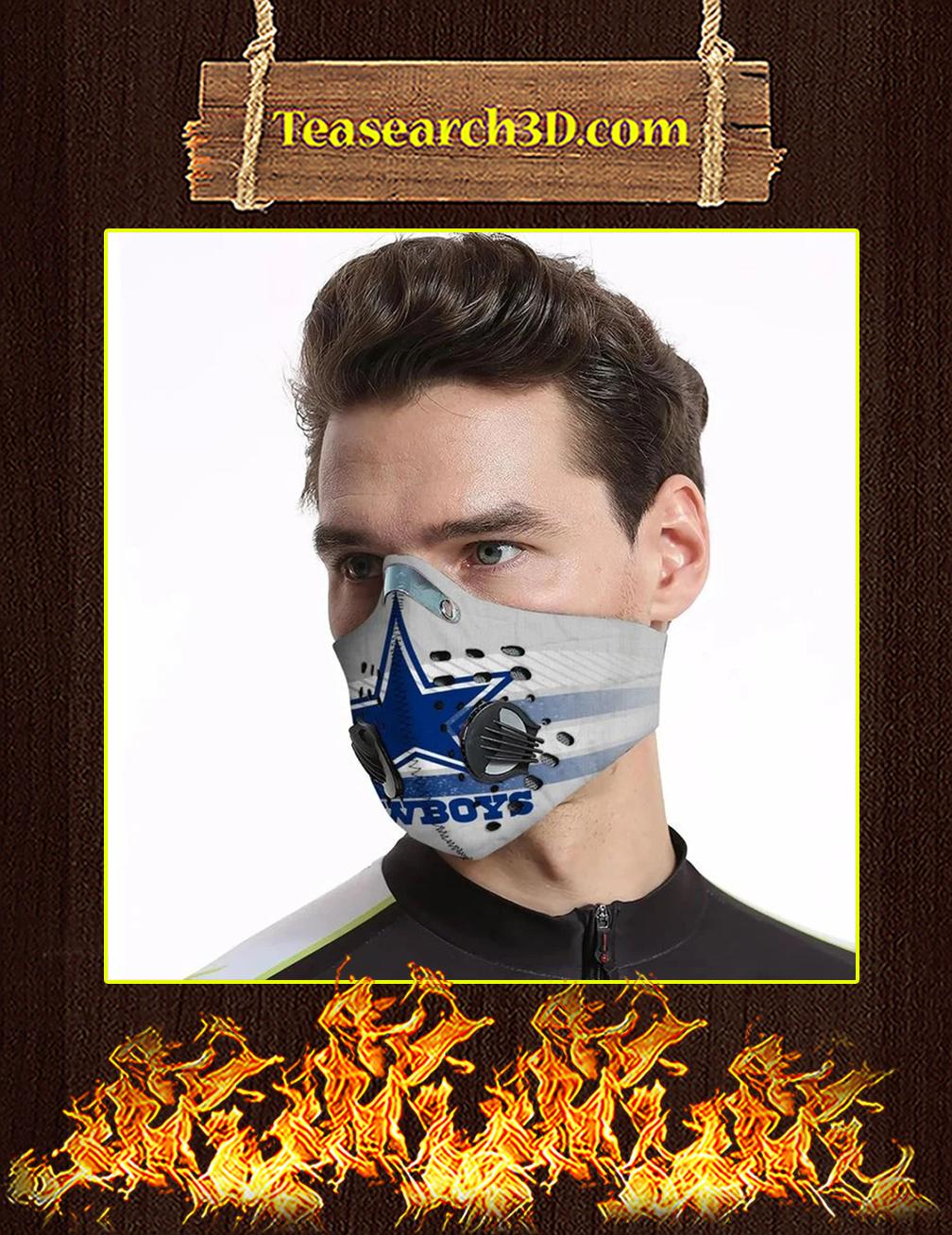 Dallas Cowboys Filter Activated Carbon Pm 2.5 Fm Face Mask Pic 3