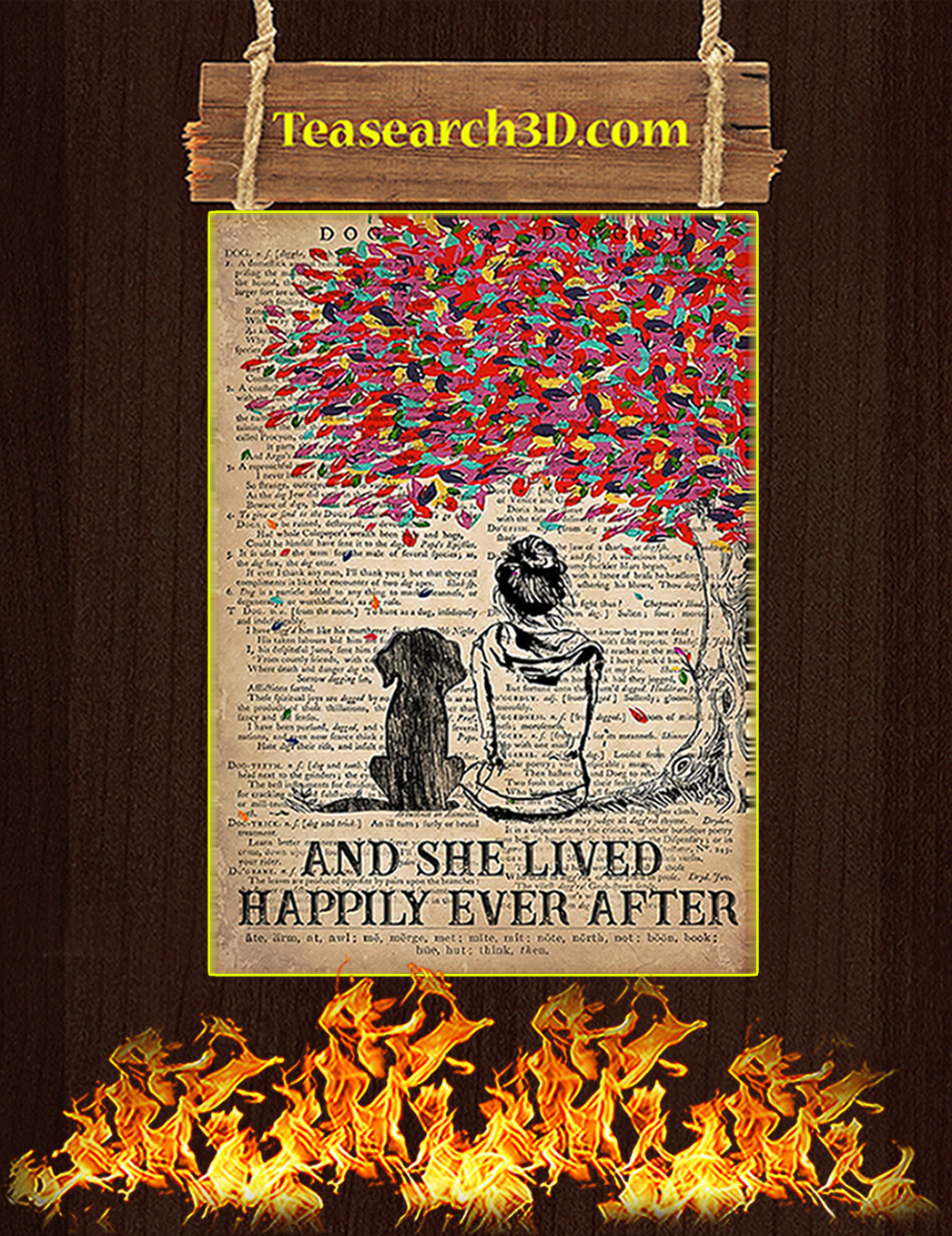 Dog And She Lived Happily Ever After Poster A1