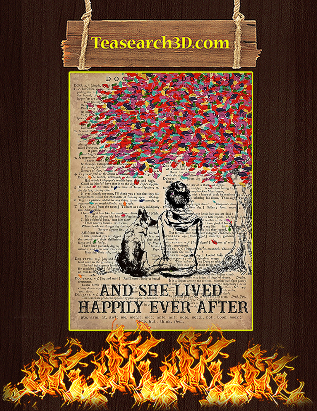 Dog K9 And she lived happily ever after poster A2