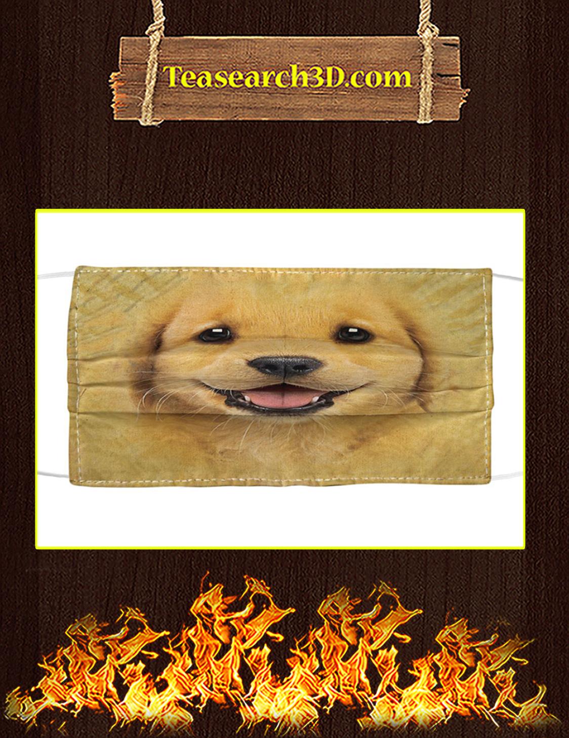 Golden Retriever Puppy Cloth Face Mask Pack 10