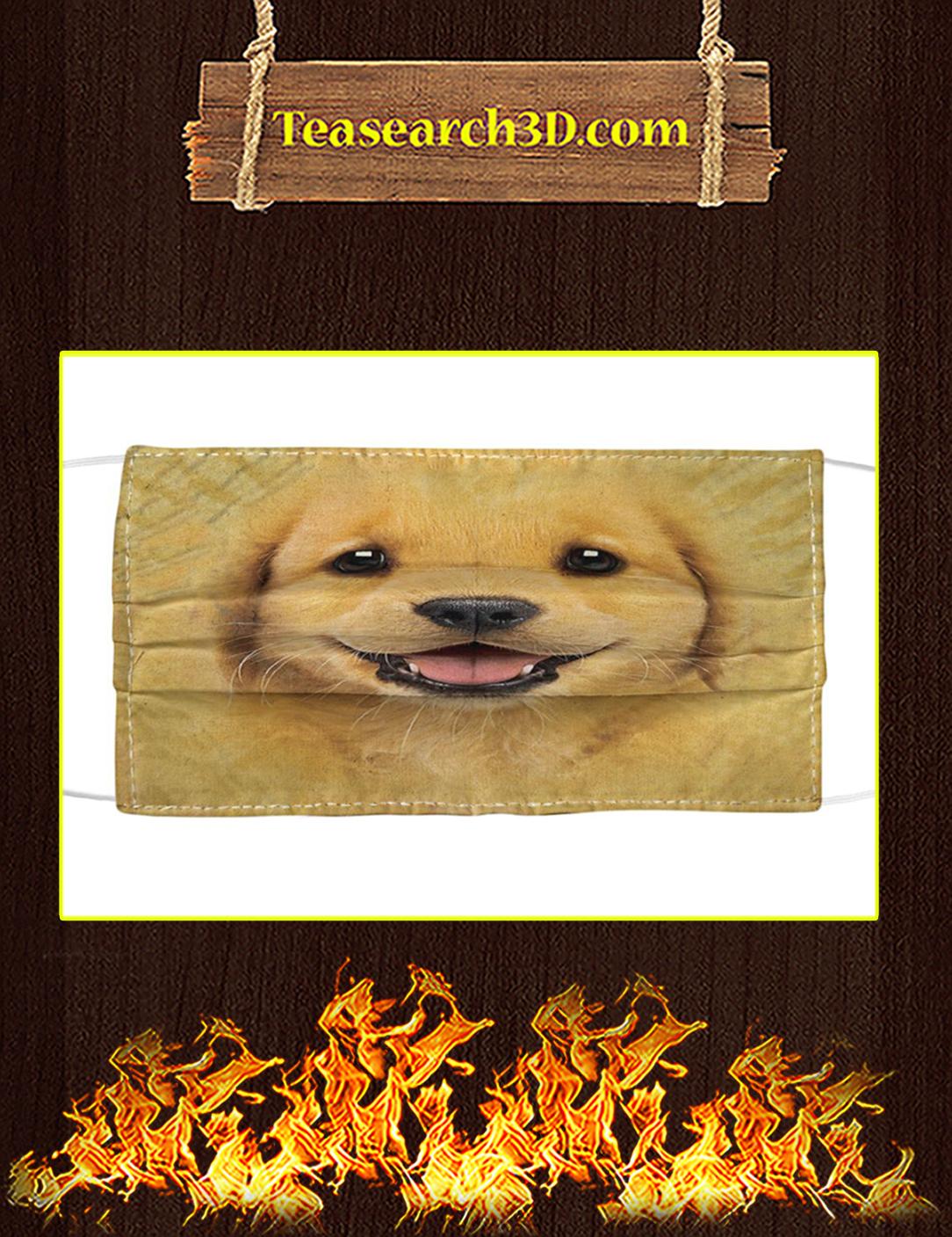 Golden Retriever Puppy Cloth Face Mask Pack 5