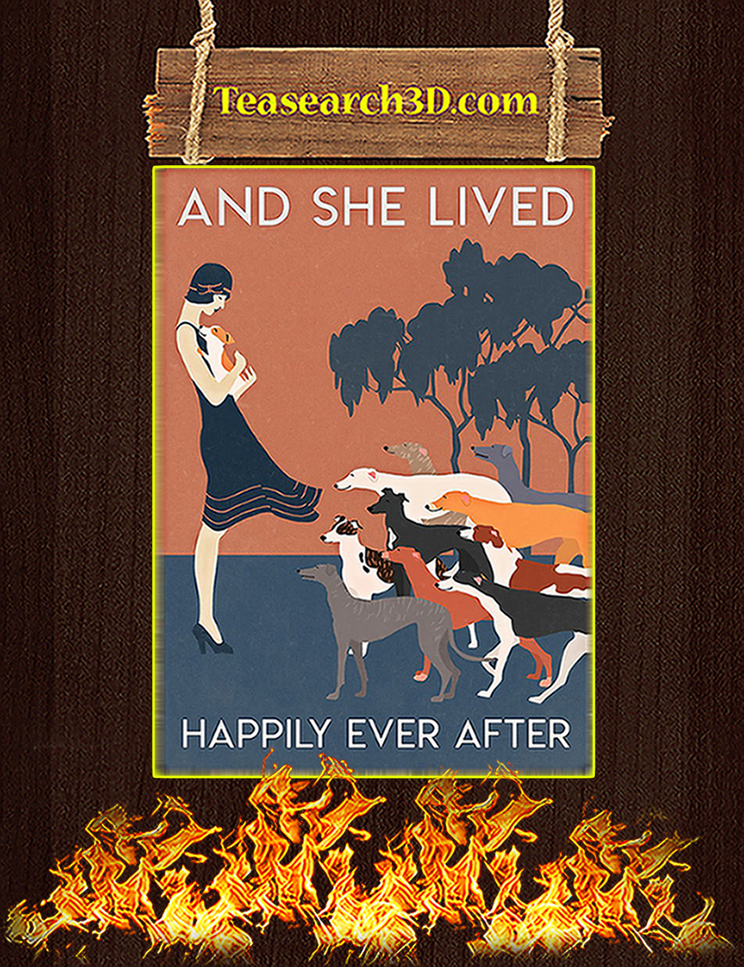 Greyhound And she lived happily ever after poster A2
