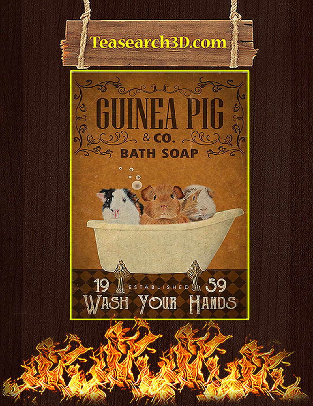 Guinea pig bath soap poster A2