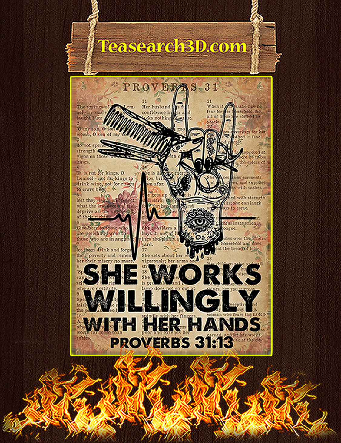 Hairdresser She Works Willingly With Her Hands Poster A3
