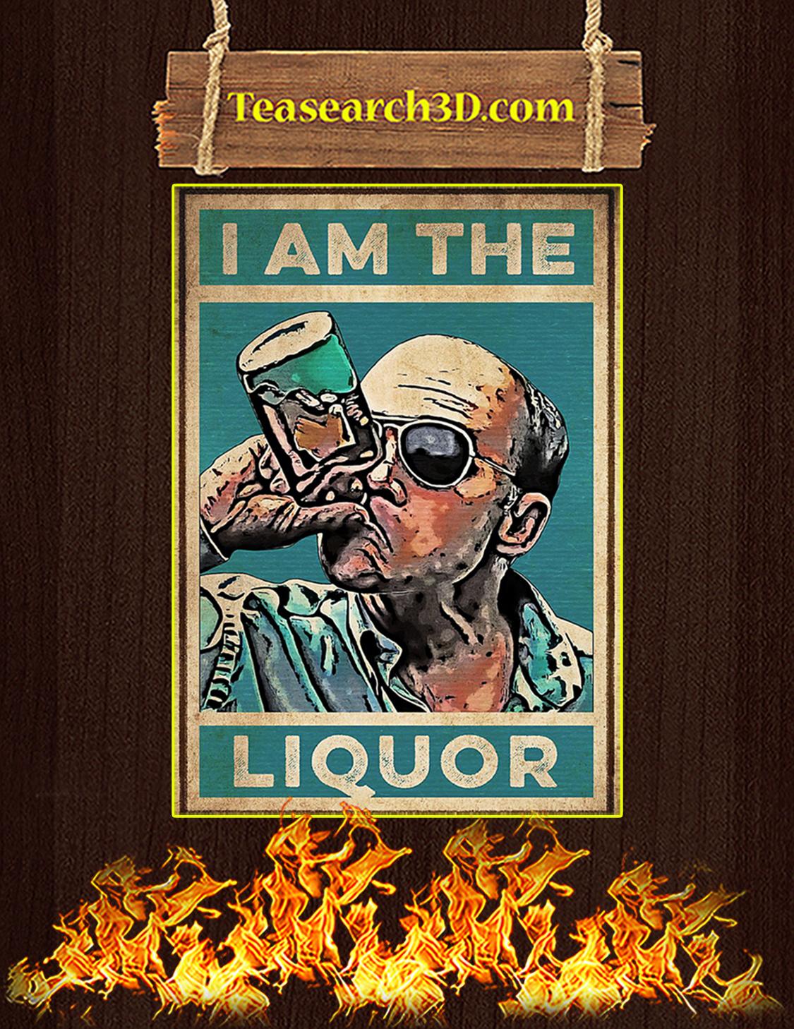 I am the liquor poster A3