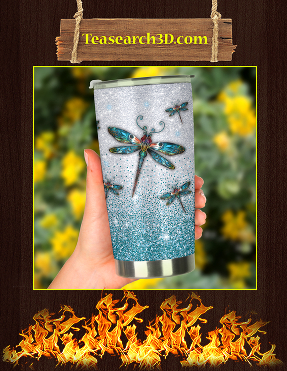 I_m Just A Girl Who Loves Dragonflies Tumbler 2