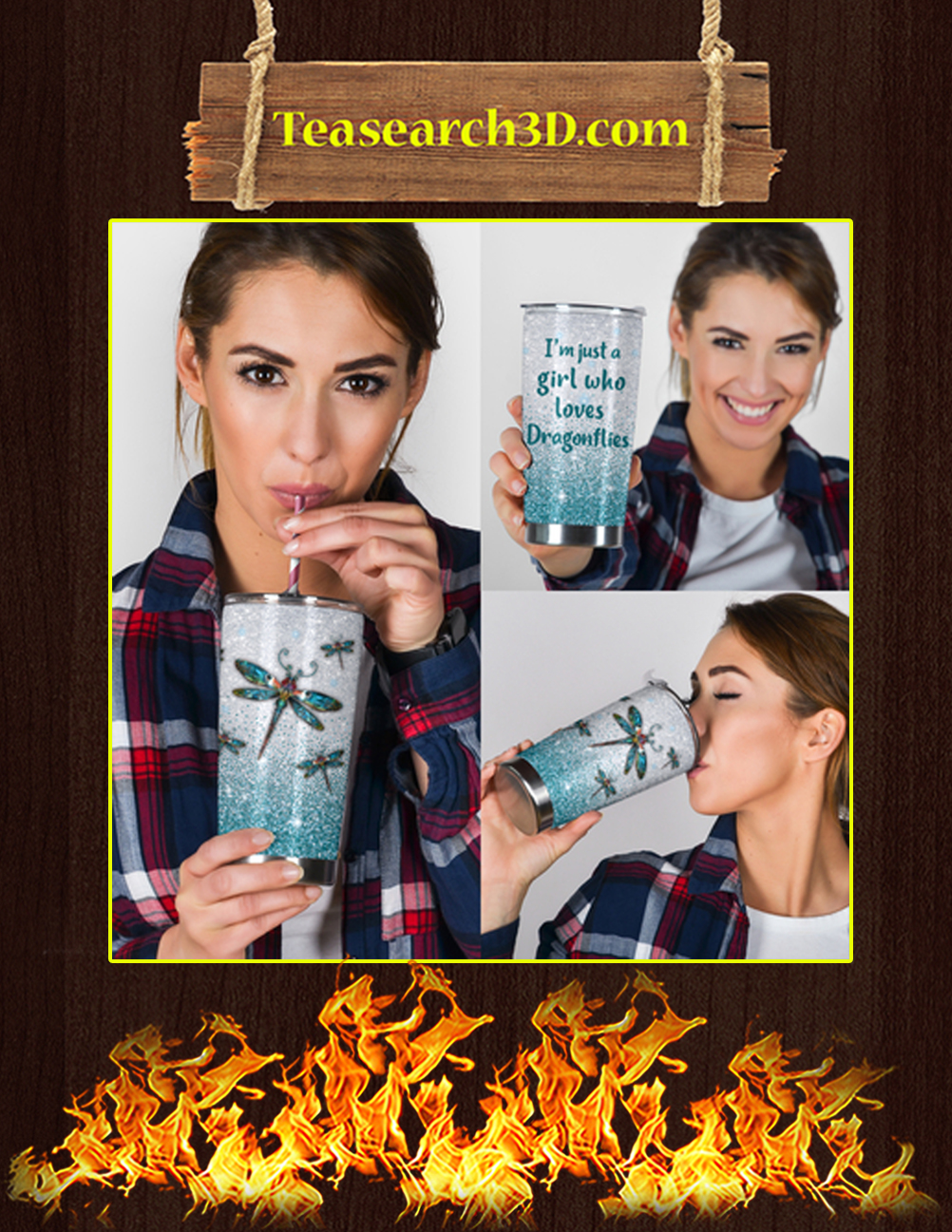 I_m Just A Girl Who Loves Dragonflies Tumbler 3
