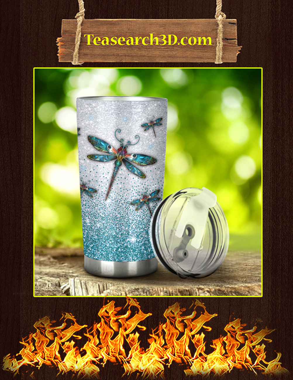 I_m Just A Girl Who Loves Dragonflies Tumbler Pic 1