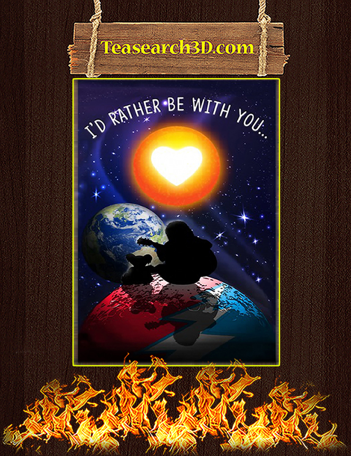 I'd rather be with you steven universe poster A3