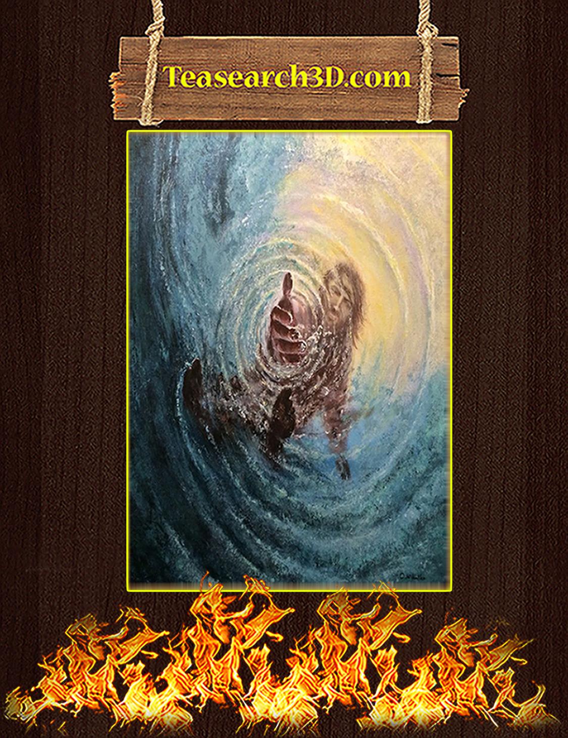 Jesus Save Me Poster A3