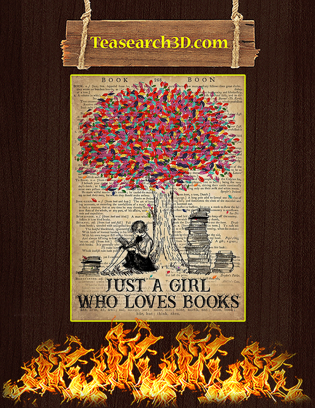 Just A Girl Who Loves Books Poster A1