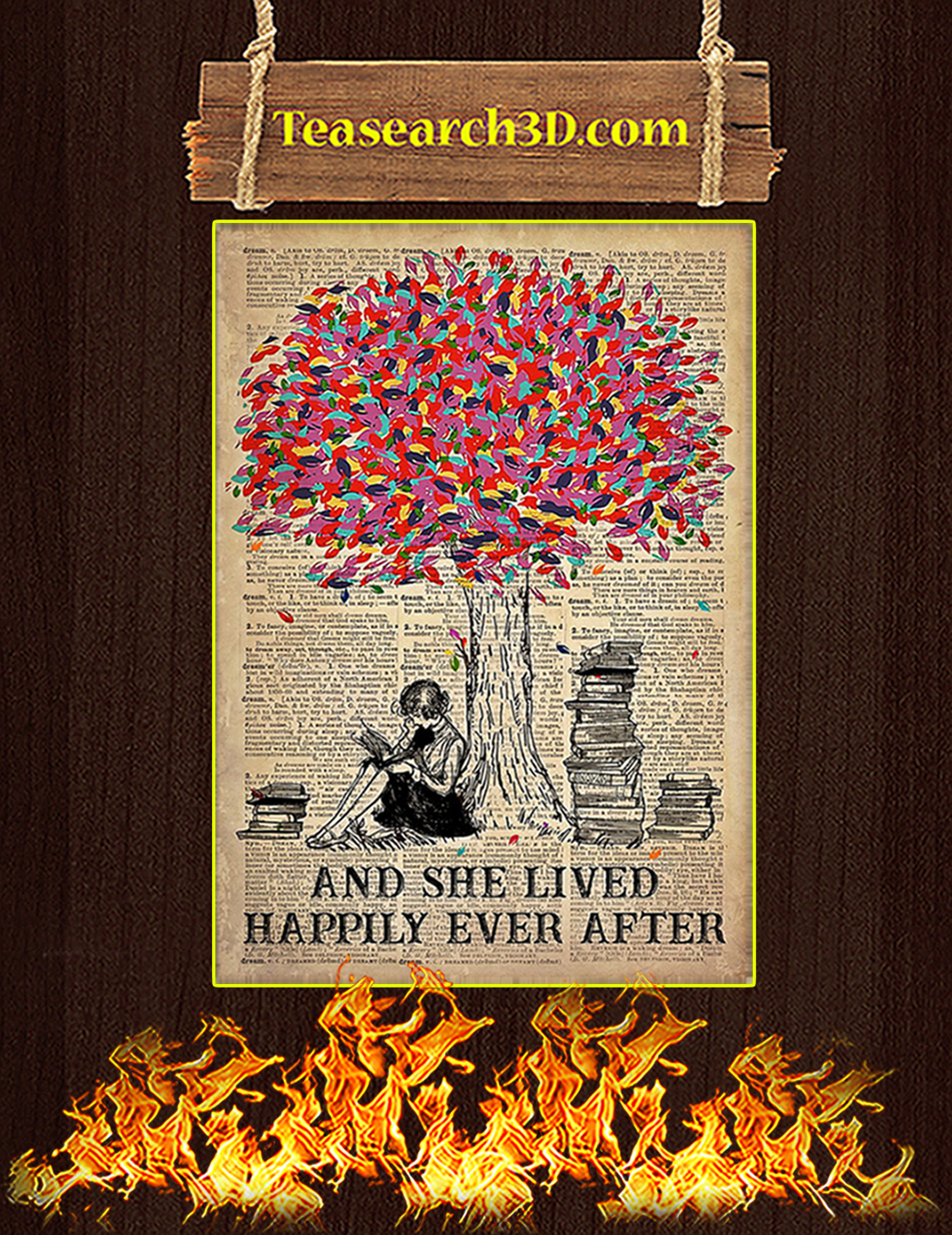 Just A Girl Who Loves Books Poster A3