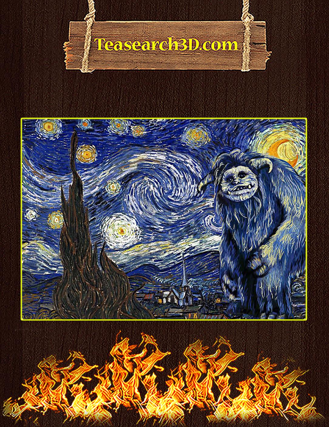 Labyrinth ludo starry night van gogh poster A2