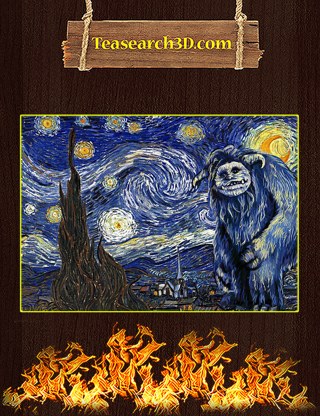 Labyrinth ludo starry night van gogh poster A3