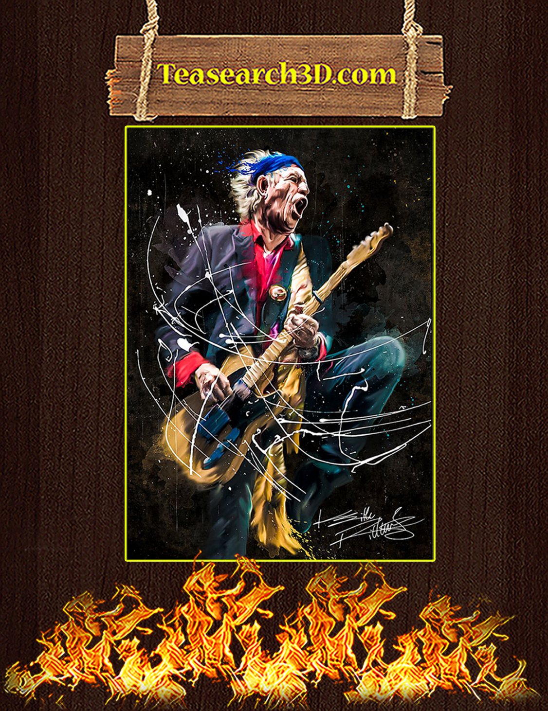 Legend Keith Richards Poster A3