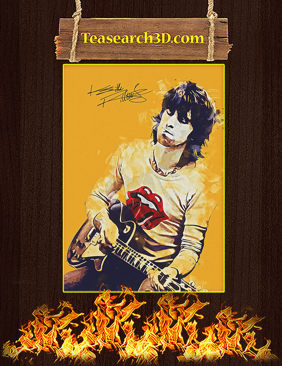 Legend keith richards signature poster A3