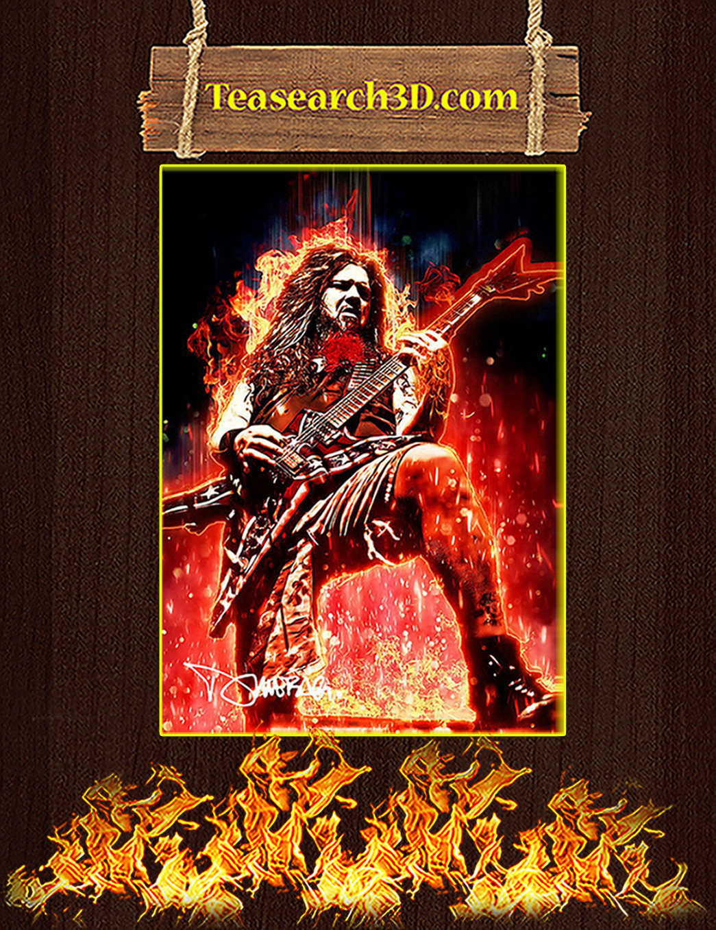 Legendary Dimebag Darrell Signature Poster A1