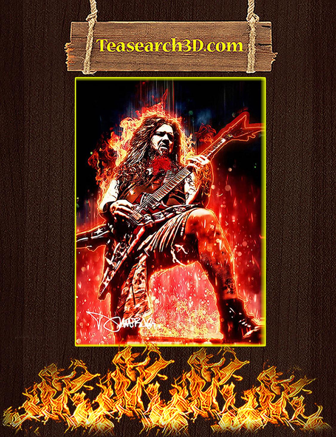 Legendary Dimebag Darrell Signature Poster A3