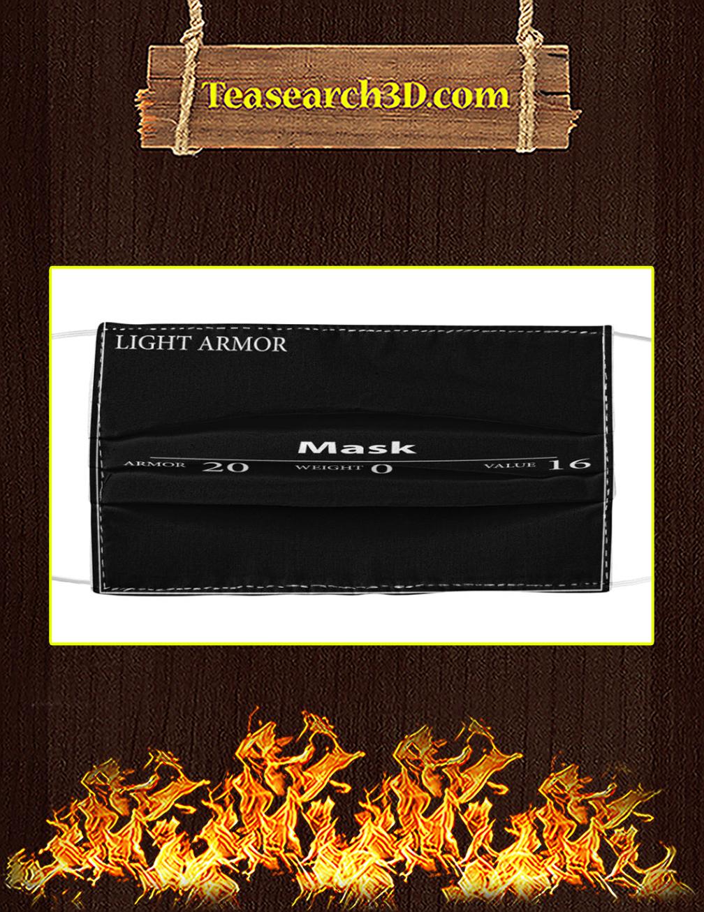 Mask Light Armor cloth face mask