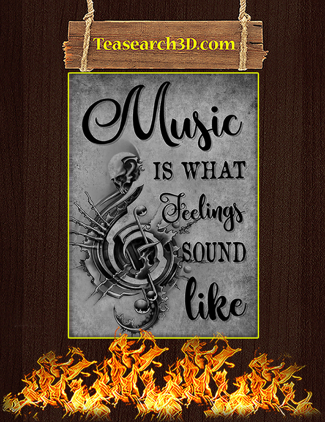Music is what feeling sound like poster A2