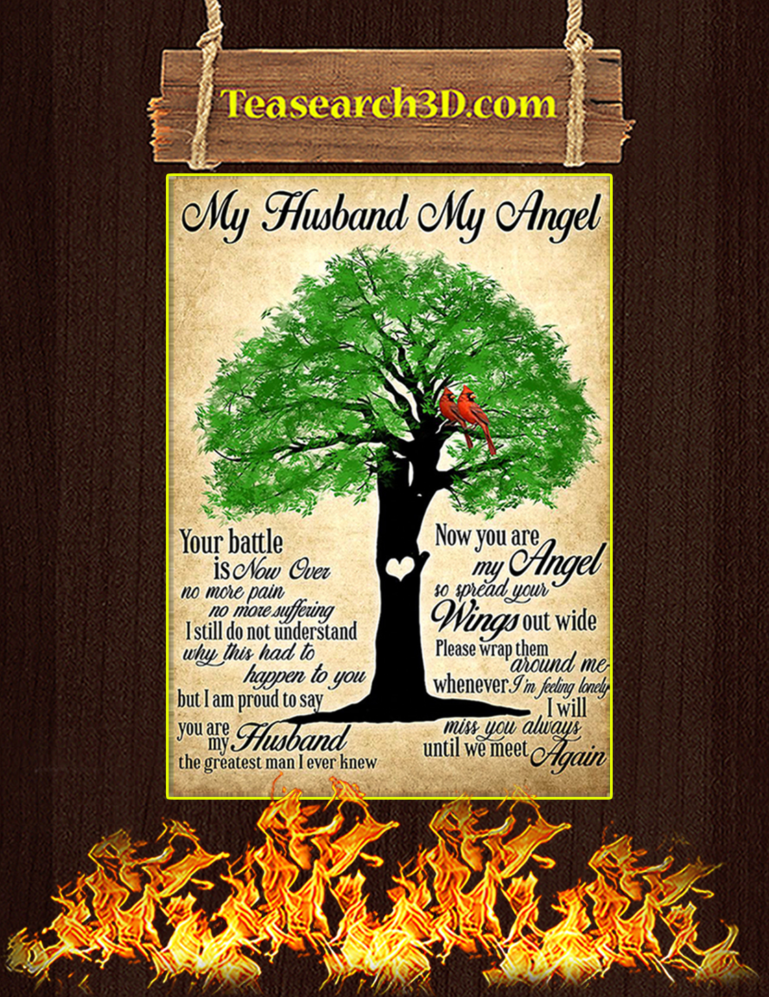 My husband my angel poster A3