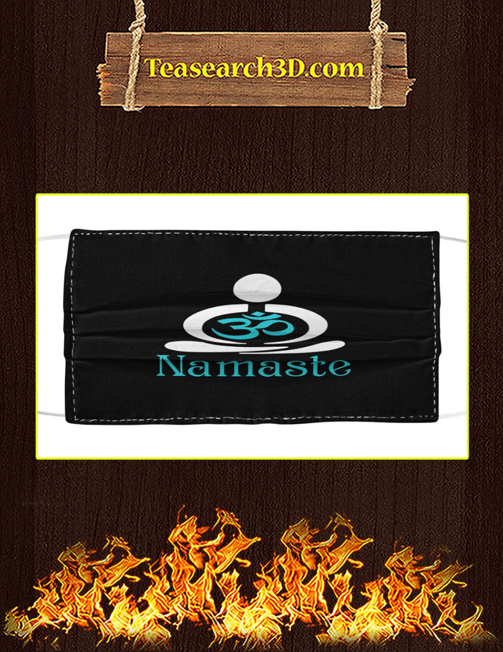Namaste cloth face mask