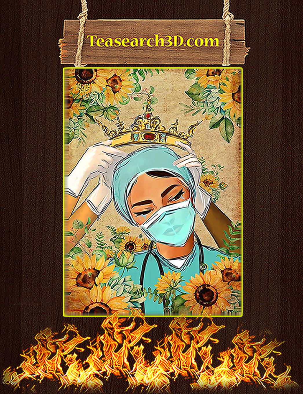 Nurse Crown Sunflower Poster A1
