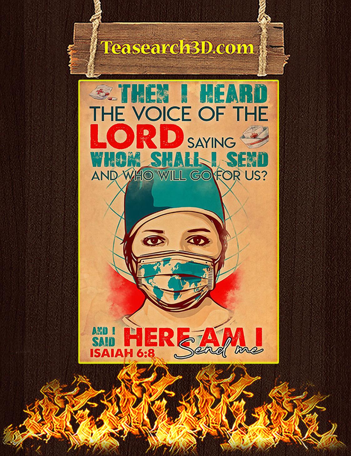 Nurse Lord send me poster A3