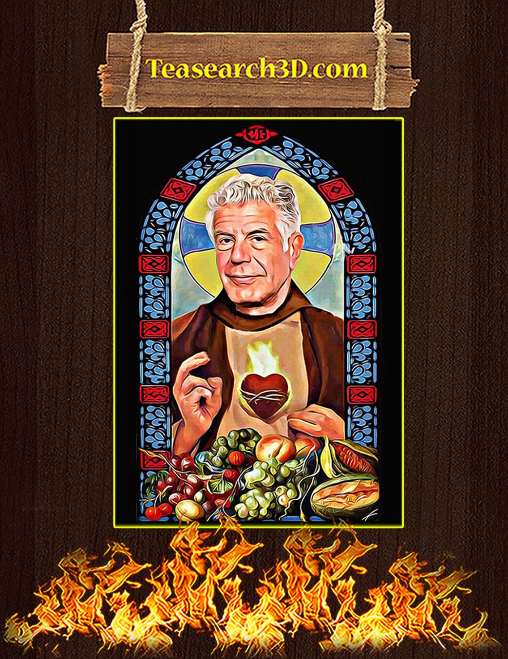 Patron saint of food and life prayer poster A1