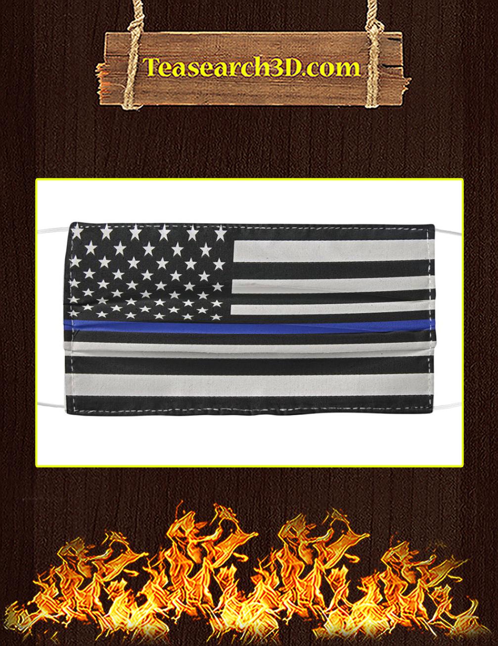 Police Blue Line Cloth Face Mask