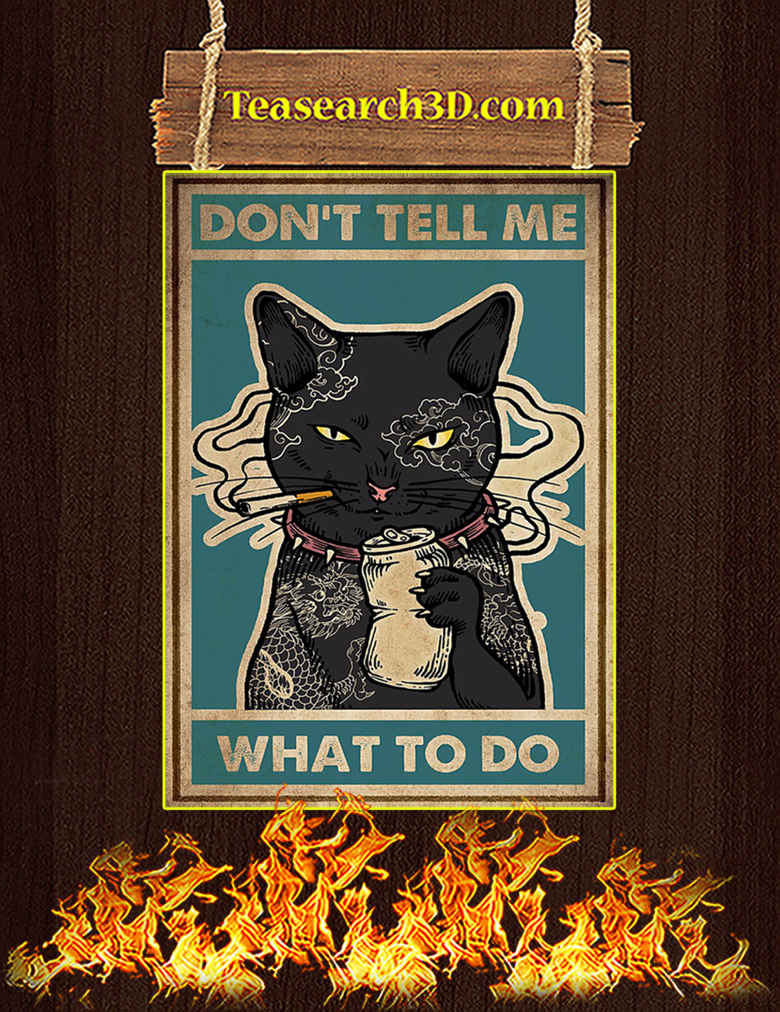 Poster cat don't tell me what to do A3