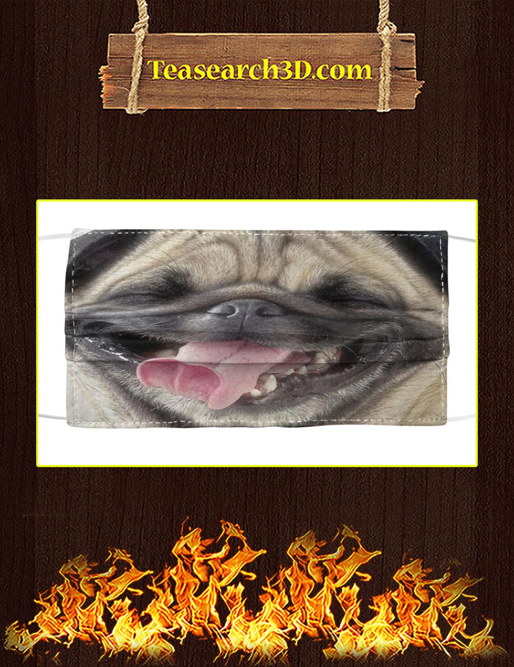 Pug Smile Cloth Face Mask