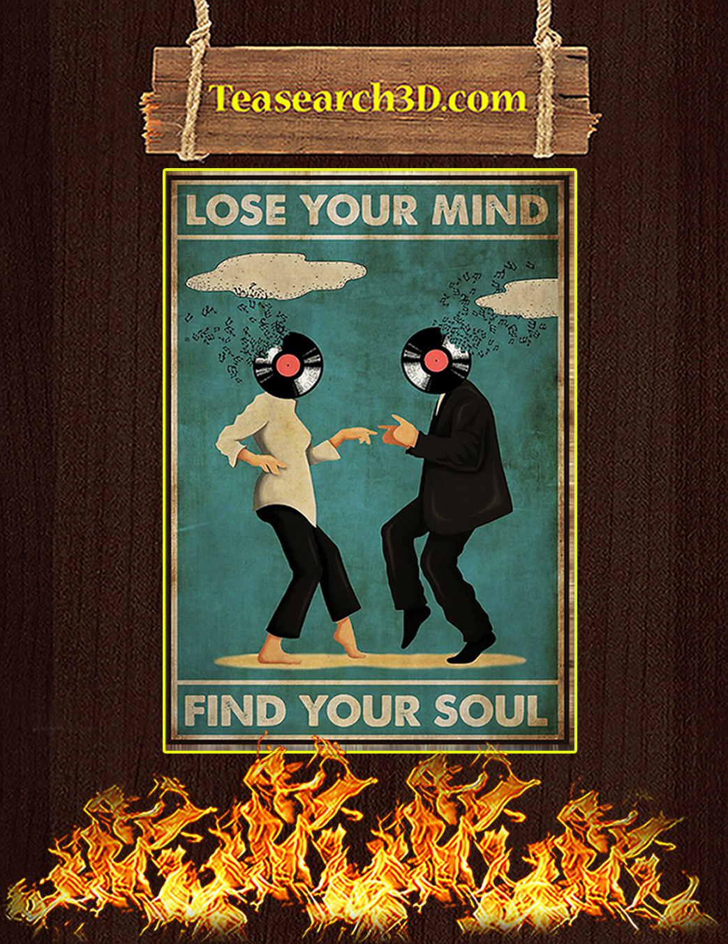 Pulp Fiction Lose your mind find your soul poster A1