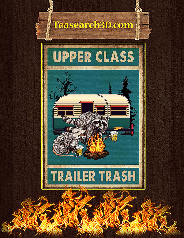 Raccoon and opossum upper class trailer trash poster A1