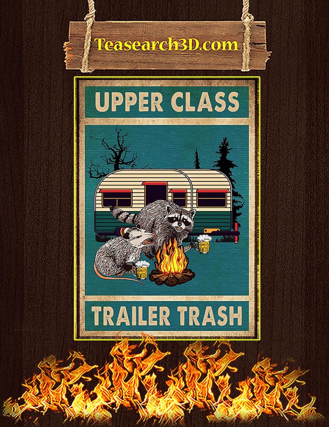 Raccoon and opossum upper class trailer trash poster A3