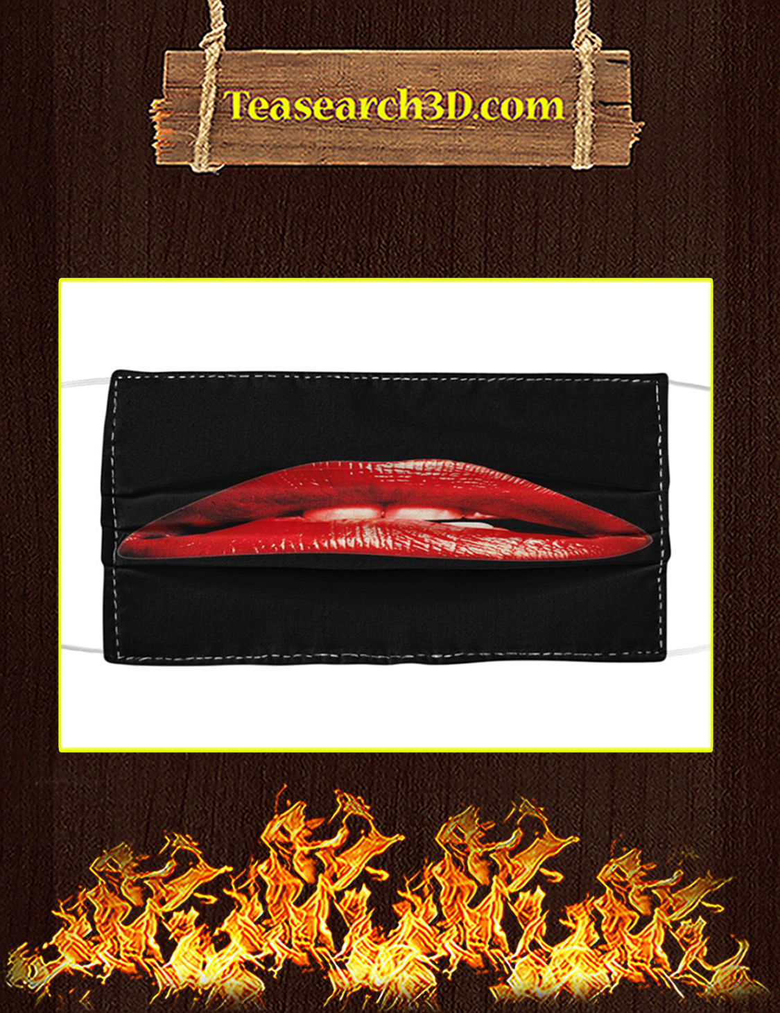 Rocky Horror Lips Cloth Face Mask pack 10